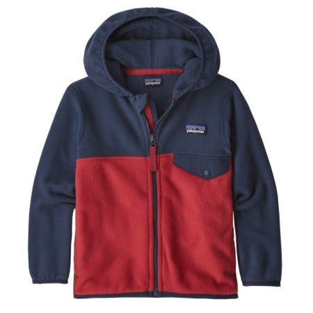 Patagonia Micro D Snap-T Fleece Jacket - Fire w/New Navy