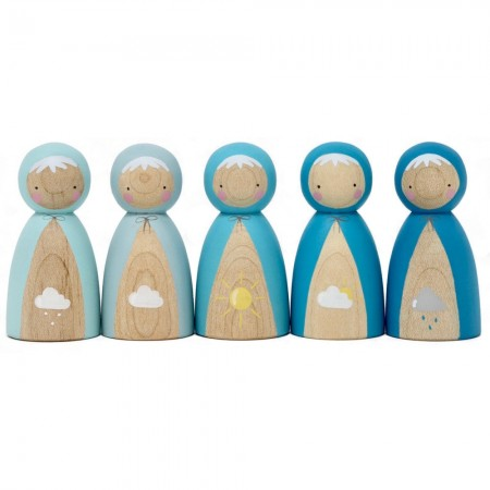 Peepul Weather Peg Doll Set