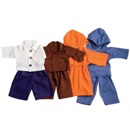 Peppa Blue, Brown & Orange 40cm Doll Outfits