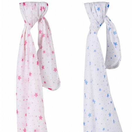Piccalilly Aurora Stars Swaddling Muslins