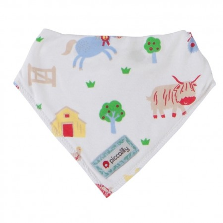 Piccalilly Bandana Bib - Barrel Sykes Farmyard