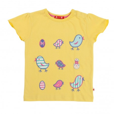 Piccalilly Chiccalilly Flutter Sleeve T-Shirt