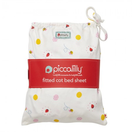 Piccalilly Ladybird Cot Bed Sheet in a Bag
