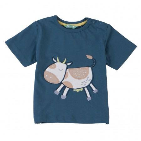 Piccalilly Cow Applique T-Shirt