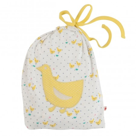 Piccalilly Fitted Cot Bed Sheet - Tiny Geese