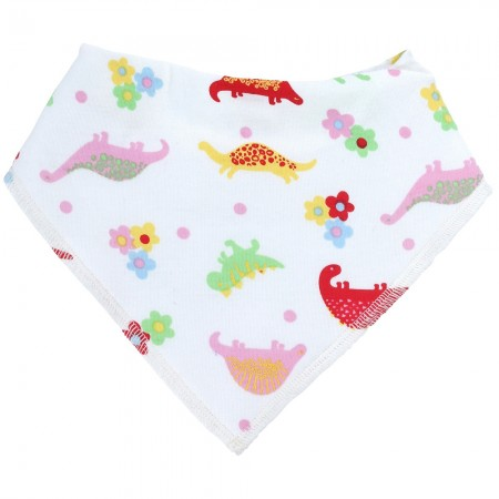 Piccalilly Floral Dinosaur Bib