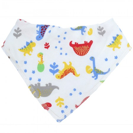 Piccalilly Footprint Dinosaur Bib