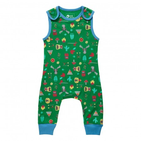 Piccalilly Hawkshead Print Dungarees