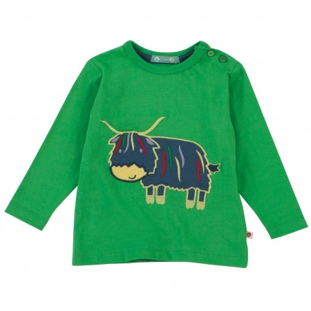Piccalilly Long Sleeved Highland Cow T-Shirt