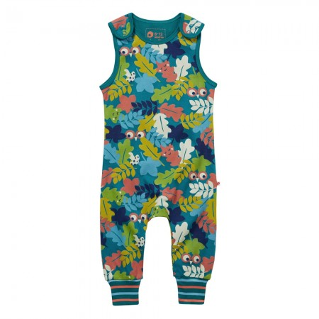 Piccalilly Leafy Camo Dungarees