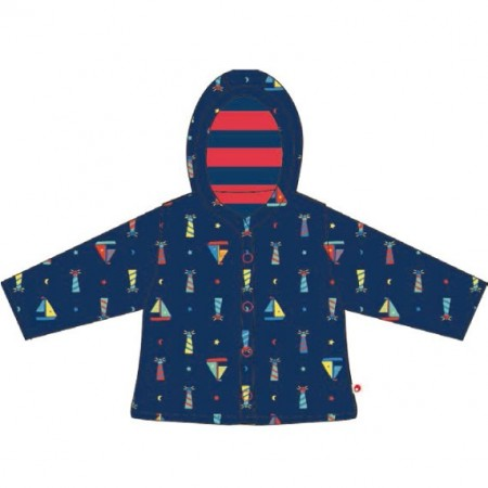 Piccalilly Lighthouse Print Quilted Reversible Jacket