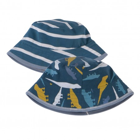 Piccalilly Lizard Stripe Reversible Hat