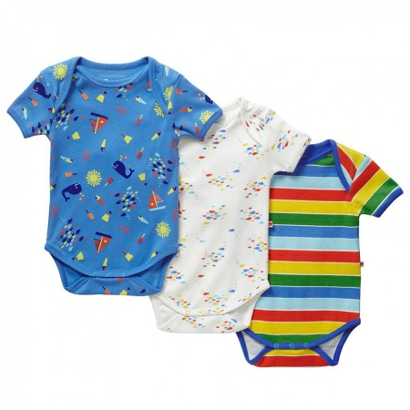Piccalilly Nautical Baby Bodies x3