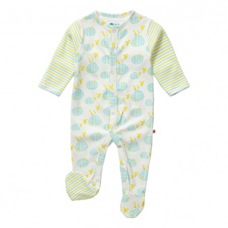 Piccalilly Puddle Duck Sleepsuit