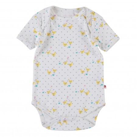 Piccalilly Tiny Geese S/S Bodysuit