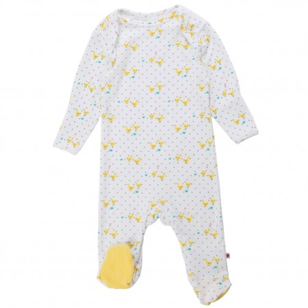Piccalilly Tiny Geese Sleepsuit
