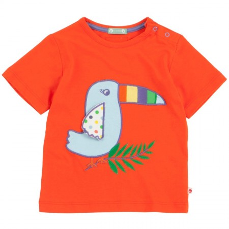 Piccalilly Toucan Applique SS T-Shirt