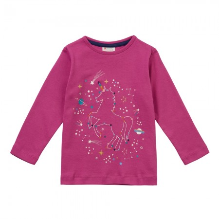 Piccalilly Unicorn Constellation Long Sleeve Top