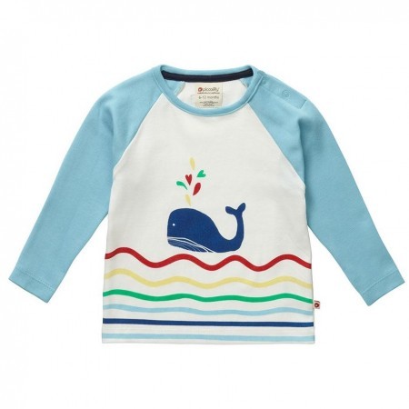 Piccalilly Whale Raglan Top