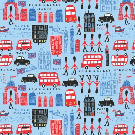 Piccalilly London theme gift wrap