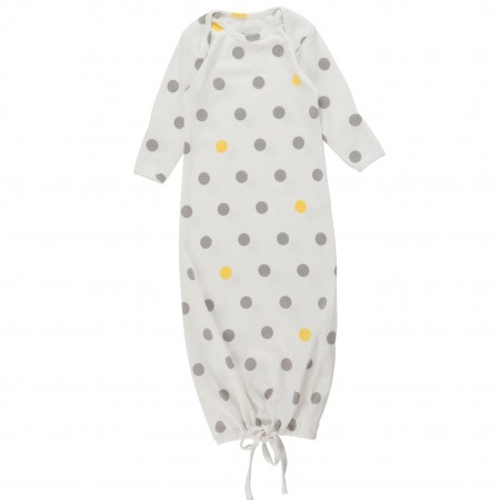 Piccalilly Yellow and Grey Spot Nightgown