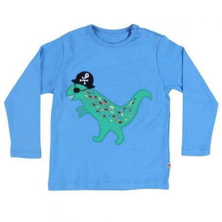 Piccalilly Blue Pirate Dinosaur Top