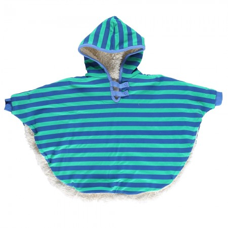 Piccalilly Blue Stripe Poncho