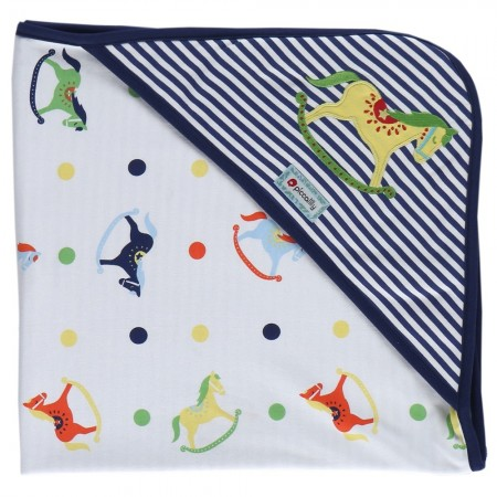 Piccalilly Rocking Horse Hooded Blanket