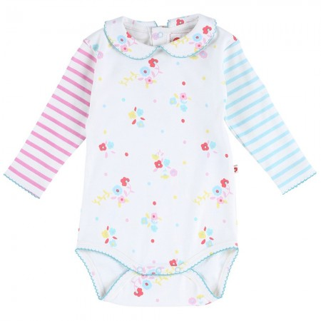 Piccalilly Floral Stripe Baby Body