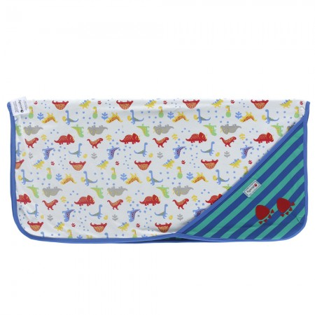 Piccalilly Footprint Dinosaur Hooded Blanket