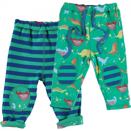 Piccalilly Dinosaur Reversible Trousers