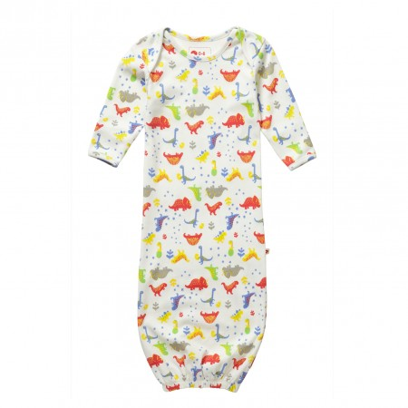 Piccalilly Footprint Dinosaur Nightgown