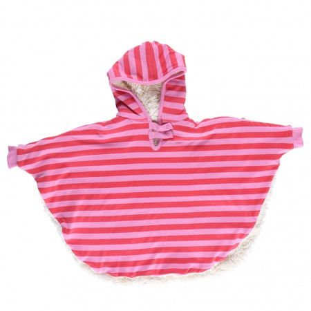 Piccalilly Pink Stripe Poncho