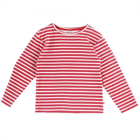 Piccalilly Red & White Stripe Top