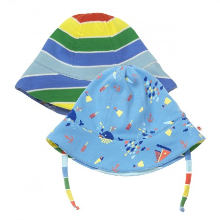 Piccalilly Seaside Reversible Sun hat