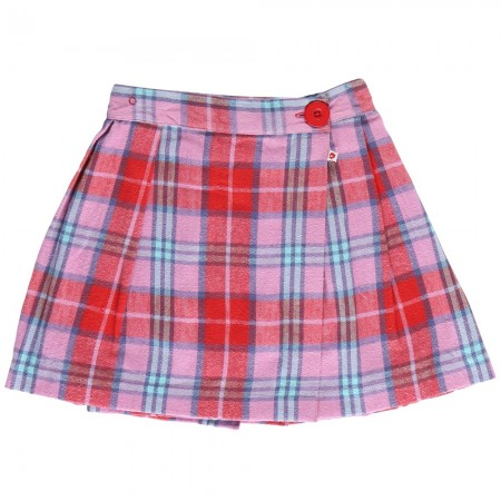 Piccalilly Tartan Check Wrap Skirt