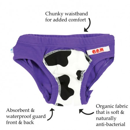 Quack Quack Moo Potty Pants Purple 2 Pack