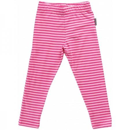 Maxomorra Pink Stripe Leggings