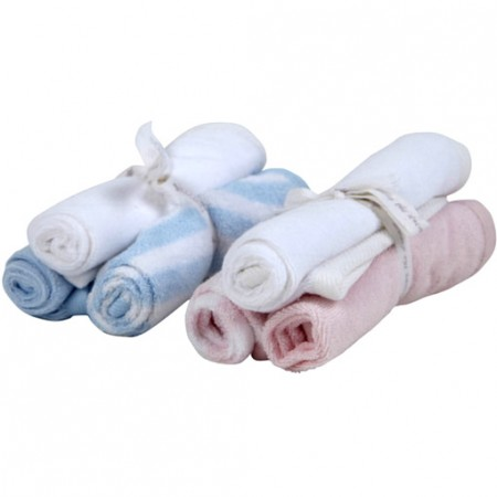 Piccalilly Organic Pink & Blue Wash Cloths