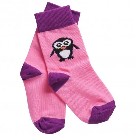 Maxomorra Pink Penguin Socks