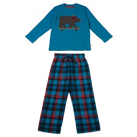 Frugi Blue Bear Super PJs