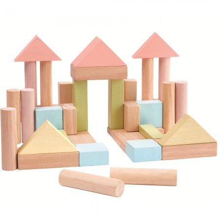 Plan Toys 40 Unit Pastel Blocks