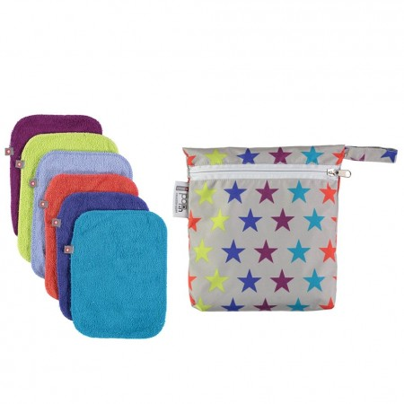 Pop-In Brights Bamboo Baby Wipes x10