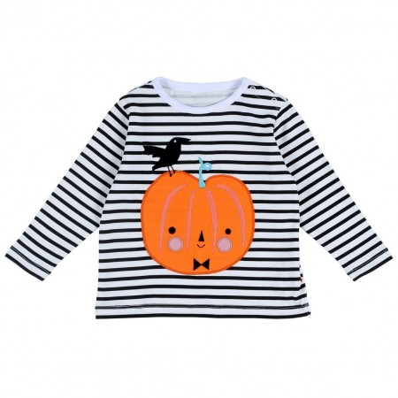 Piccalilly Pumpkin Applique LS T-Shirt