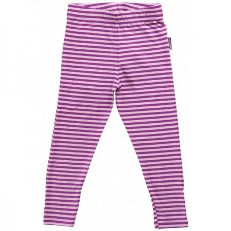 Maxomorra Purple Stripe Leggings