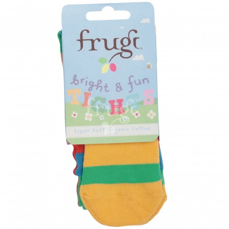 Frugi Little Zoe Tights - Rainbow Stripe