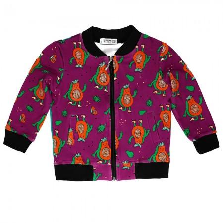 Raspberry Republic Papaya Power Bomber Jacket