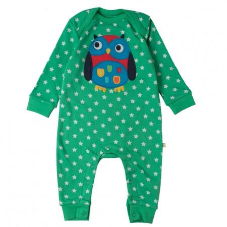 Frugi Pea Stars/Owl Charlie Romper