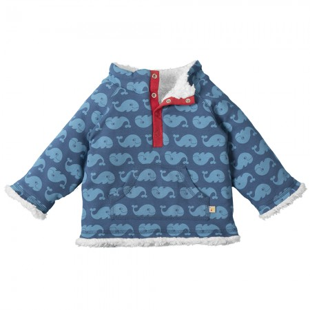 Frugi Whales Little Snuggle Fleece