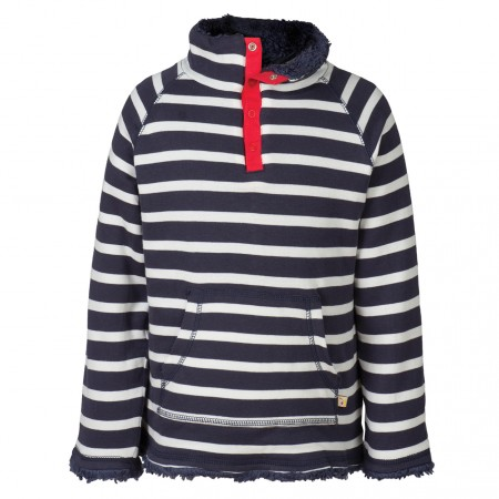 Frugi Navy Breton Snuggle Fleece